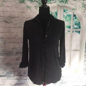 Black Sequin embellished dress Shirt